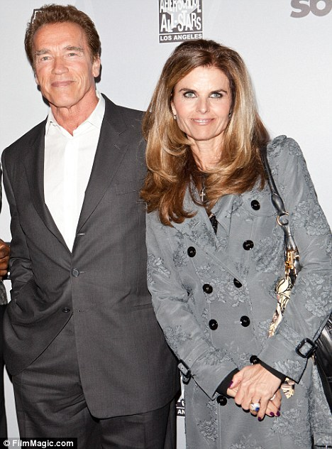 Separating: Former California governor Arnold Schwarzenegger and wife Maria Shriver announced they are splitting tonight, pictured here together in February
