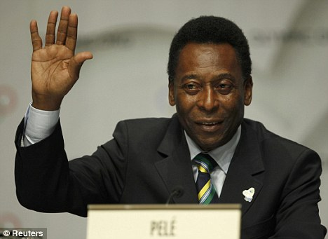 Backing: Brazilian legend Pele has been hugely impressed by Little Pea