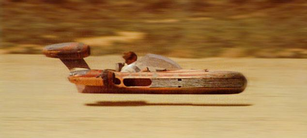 The prototype looks like a Landspeeder, the fictional anti-gravity craft Luke Skywalker uses in the Star Wars films