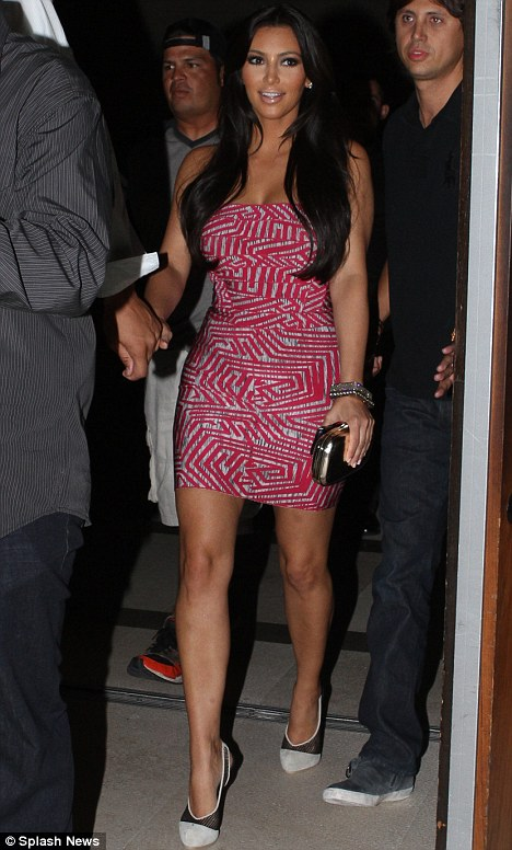 Welcome: Kim and Kris enjoyed dinner and drinks at the high-end Japanese restaurant Zuma