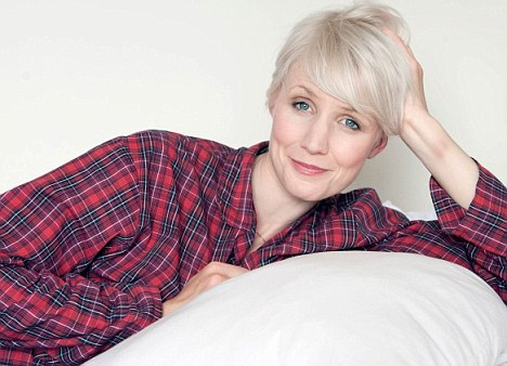 Dreaming of sleep: Television presenter Tessa Dunlop is one of millions of insomnia sufferers in the UK