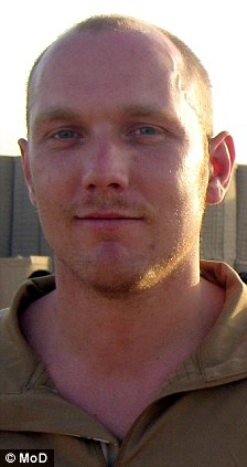 Tragic: Corporal Jonathan Horne was among those killed by an IED in Sangin region