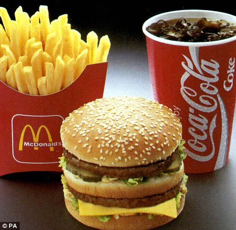 big mac from mcdonald carries 550 calories