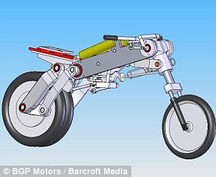 Diagram of the Uno III. It is being produced by a US motor design company in Cambridge, Massachusetts, called BPG Motors.