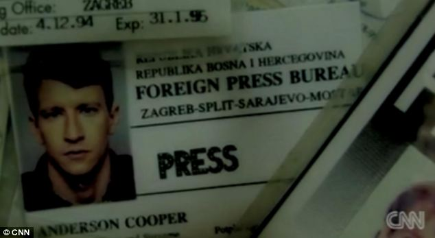 Bosnia: A press pass from the 1990s, when Mr Cooper covered global conflicts around the world for 'real' news organizations