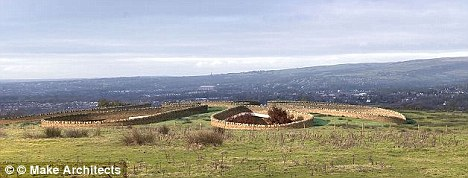Underground bunker: The house will be on the edge of the West Pennine Moors
