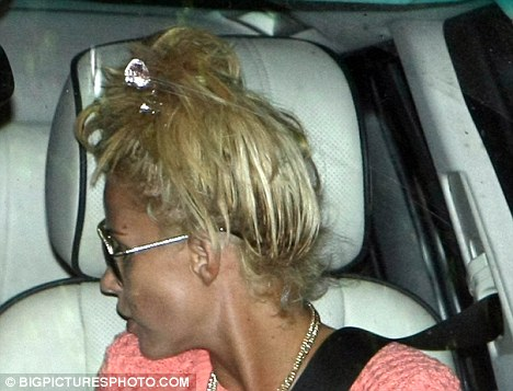Katie Prices 11k Hairdo Horror She Flies 3000 Miles