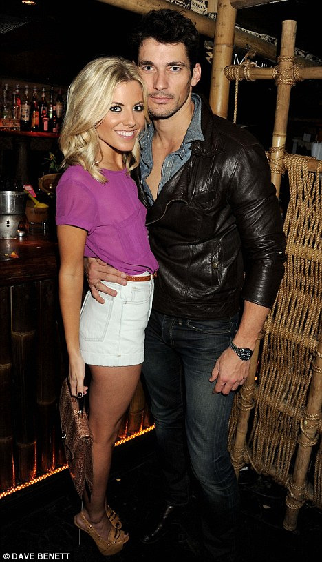 New love: Mollie poses with her new boyfriend model Dave Gandy