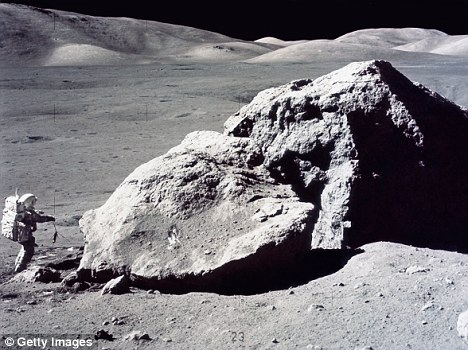 The rock samples were collected by astronauts during the Apollo 17 mission, which was the last manned mission to the Moon