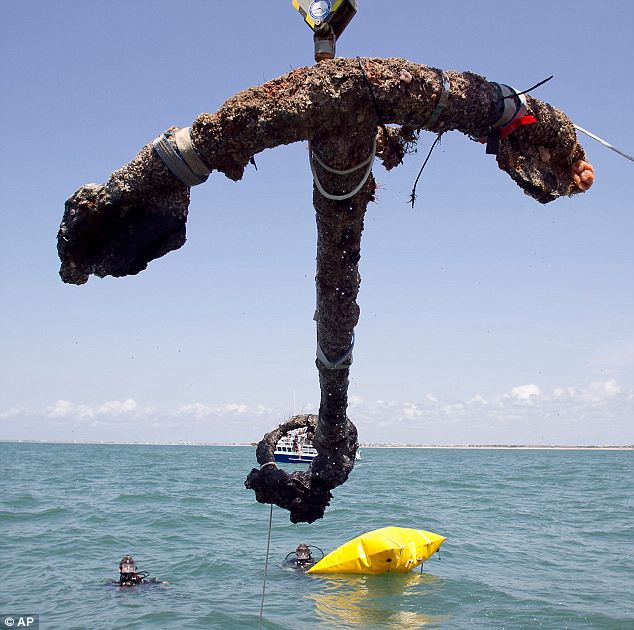 Old: The anchor has been under water since 1718