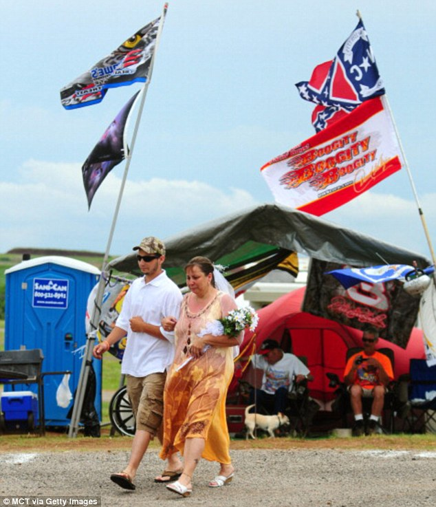 Love at first sight, NASCAR style: The couple who got married at the race track in the world¿s ...