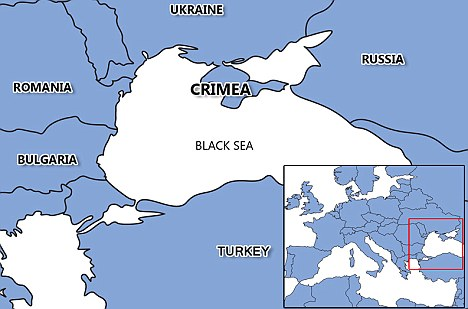 The Crimea region of Ukraine