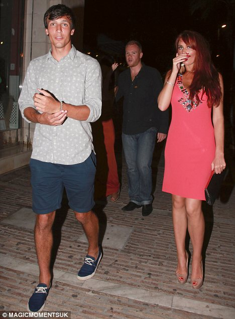 Amy Childs Leaves Club In Marbella With Footballer Jack