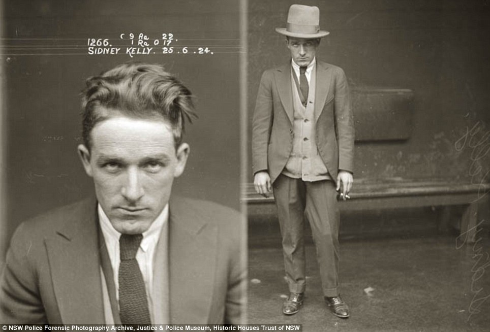 Tough guy: Sidney Keller was arrested several times and featured in Australian newspapers in the 1920s, 30s and 40s. He was charged with shooting, assault and running an illegal baccarat game in Sydney in the 1940s