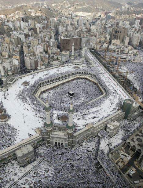 Shopping for sex: Mutairi said that during a recent visit to Mecca, pictured, Saudi muftis said it was not forbidden to own a sex slave