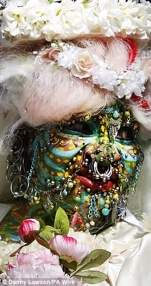 Elaine Davidson, world's most pierced woman