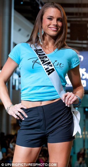 Fighting form: Madeline Mitchell survived horrific injuries after a car crash in 2008 to become Miss Alabama