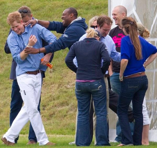 Prince Harry gives Mike Tindall gun pose ahead his royal ...