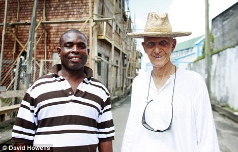 Inheritance: Lord Glenconner is pictured with his long-time manservant Kent Adonai