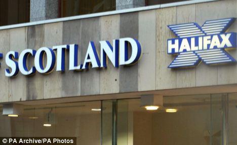 A Halifax Bank of Scotland branch.