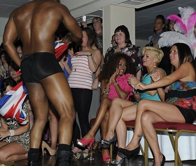 Asset Stripper Kerry Katona Ogles A Male Stripper During A Wild Night In Warrington In