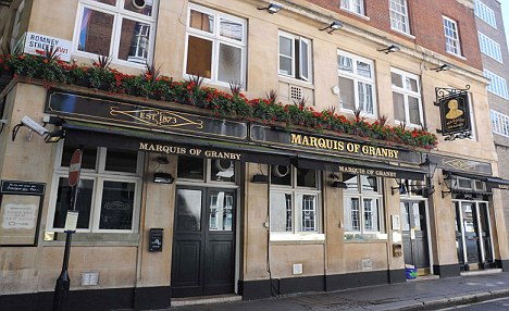 Popular: The Marquis of Granby near the House of Commons where Annabelle Fowler met the MP
