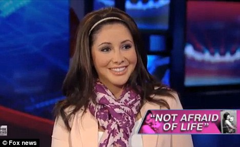 Candid: Bristol Palin talks to Sean Hannity about her 'problems' with Meghan McCain saying that they were very different people and that they do not speak