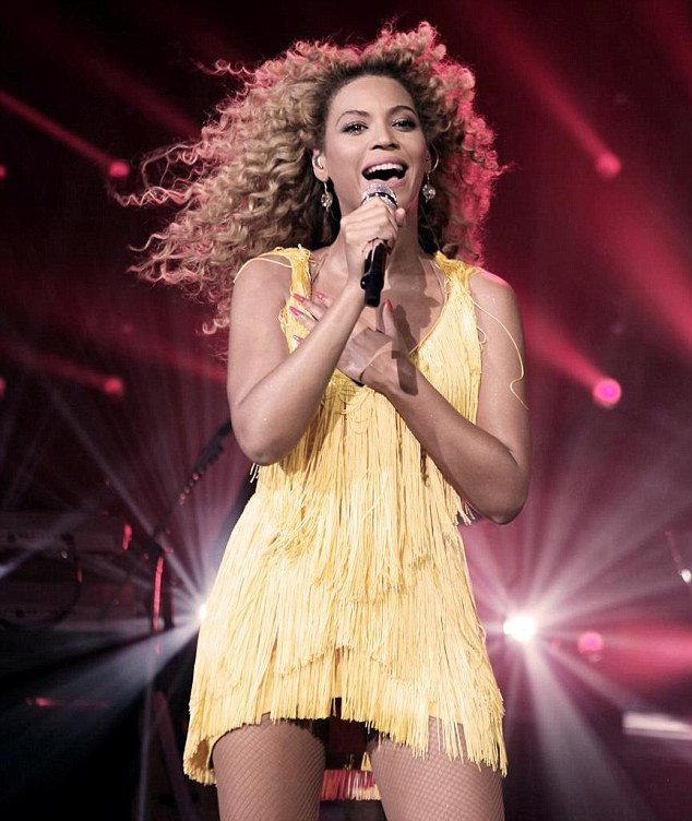 Belting it out: Beyoncé sang a number of tracks from her new album 4