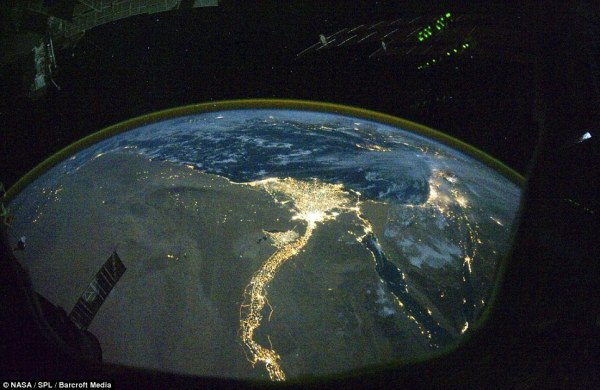 International Space Station pictures show how Earth is lit ...