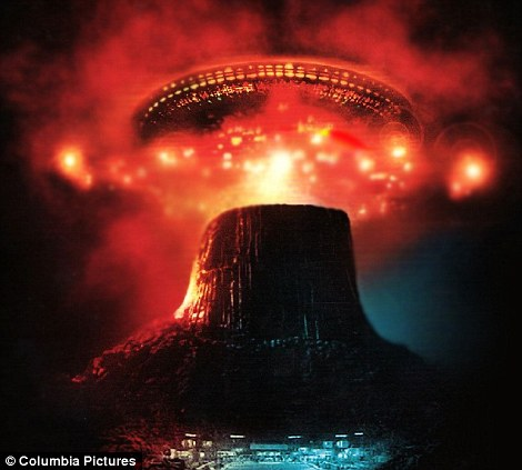 Iconic image: Mr Hines' photograph is reminiscent of the finale to Close Encounters Of The Third Kind