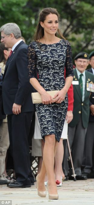 Outfit No2: A navy lace dress by Erdem Moralioglu