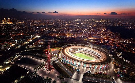 Impressed: An image provided by West Ham which shows how the stadium could also be used as a concert venue after the Games