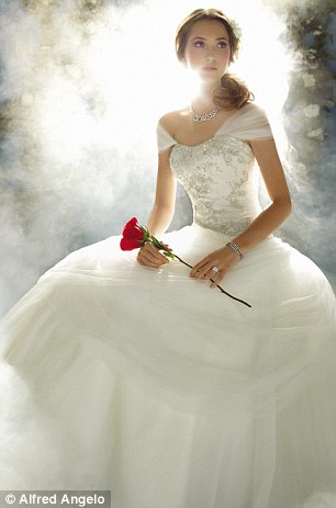 Princess for a day: The Belle dress has a similar top and corset-style detailing before extending into a tulle skirt