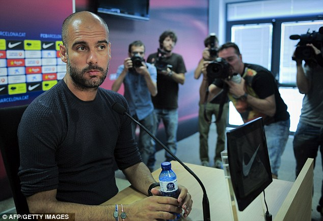 Straight talking: Pep Guardiola will not be rushed as he continues to chase Fabregas
