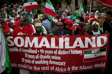 Self-declared: Somaliland people protest in London as they try to get international recognition for their currently unrecognised state