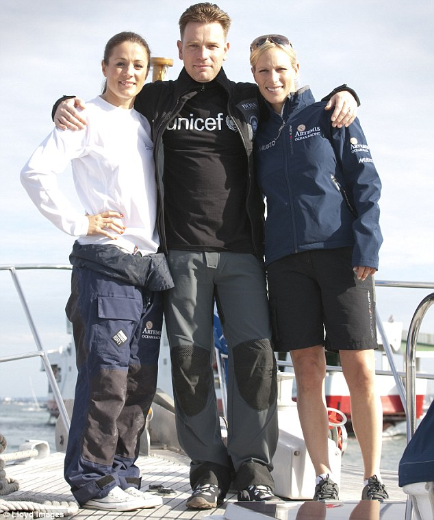 Zara Phillips Joins Ewan McGregor And Sailing Team For
