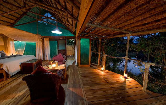 Room in the Mvuu Wilderness Lodge