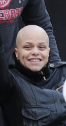 Jade Goody leaving her Essex home in a wheelchair