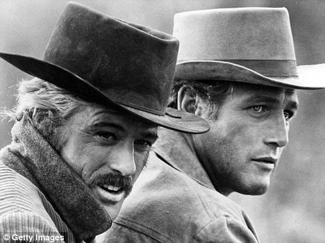 Iconic: Redford (left) and Newman (right) gave memorable performances as the legendary outlaws