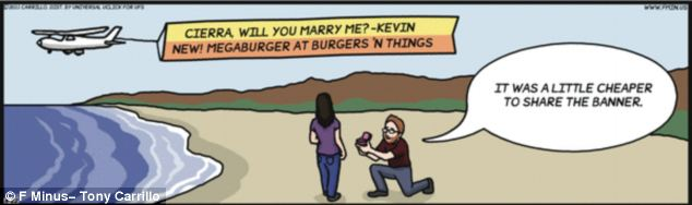 Artist: Tony Carrillo agreed to incorporate the marriage proposal into his cartoon for the couple