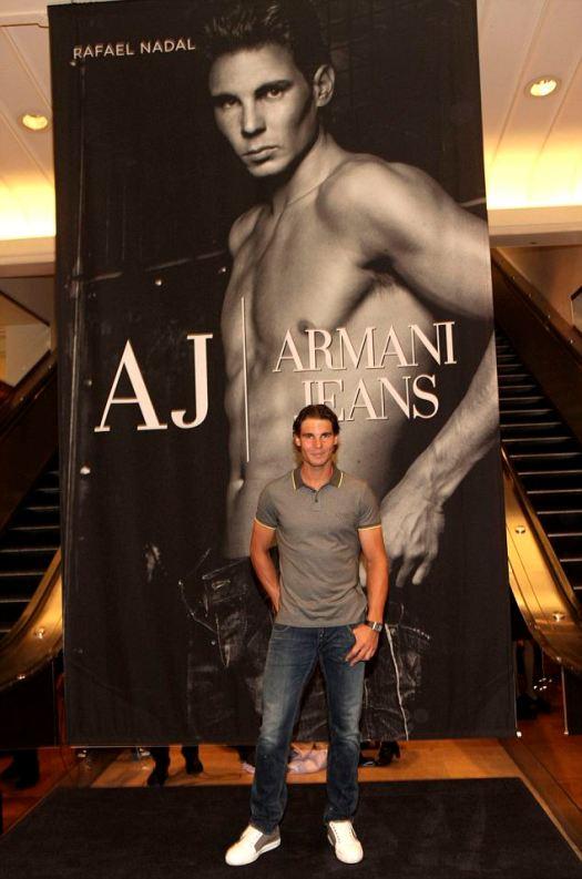 Rafael Nadal unveils his new Emporio Armani underwear ...