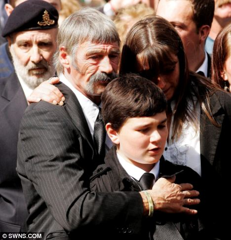 Grief: John MacAleese at the repatriation of his son, Sgt Paul McAleese, in Wootton Bassett in 2009