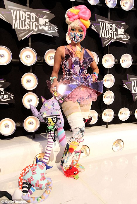 Kooky: Nicki Minaj arrived at the MTV VMAs wearing this bizarre ensemble