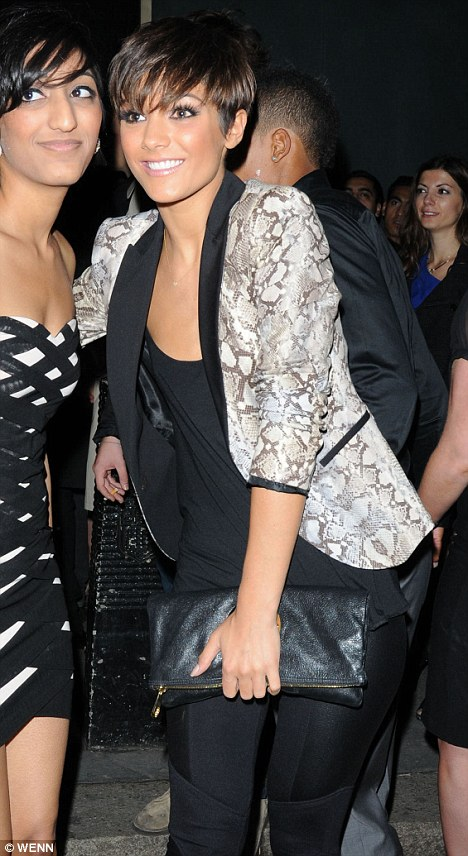 Club horror: Frankie Sandford was in Whisky Mist when a fight kicked off on Sunday night