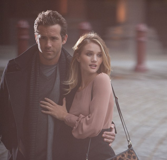 Star power: Ryan Reynolds and Rosie Huntingdon-Whiteley model the autumn Autograph collection from Marks and Spencer