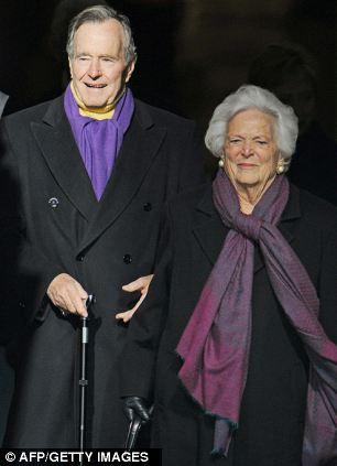 George HW and Barbara Bush to snub granddaughter Lauren's ...
