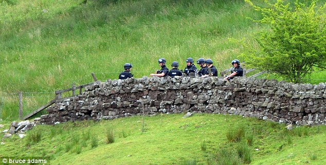 The man-hunt for Moat stretched for miles and went on for days and involved hundreds of police officers
