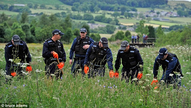 Police officers scoured the countryside for days in the hunt for missing Raoul Moat who went on the run after shooting dead karate instructor Chris Brown, 29, and maiming Moat's ex-girlfriend Samantha Stobbart
