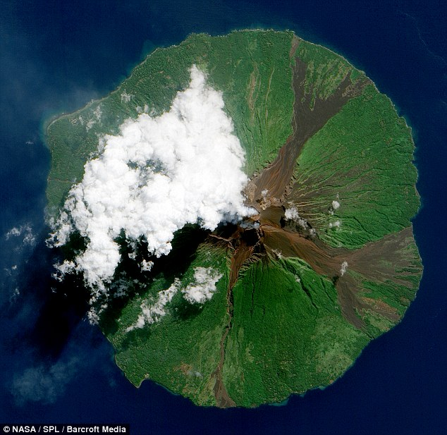 Force of nature: A NASA image of Papa New Guinea's Manam Volcano shows more of the destructive side of our planet