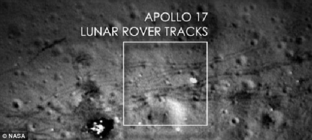 lunar rover tracks
